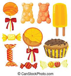 rozmanitý, cukroví