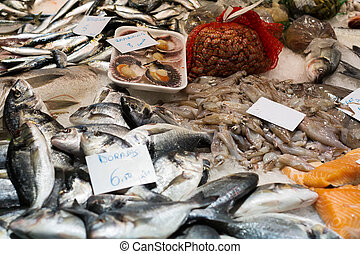 rozmanitý, drsný, nedávno rybolov, dále, obchod, čelit