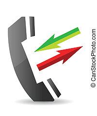 rozmowa telefoniczna, ikona
