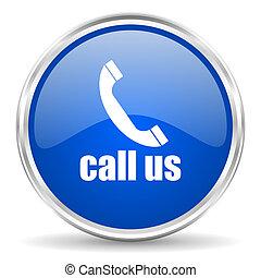 rozmowa telefoniczna, na, ikona