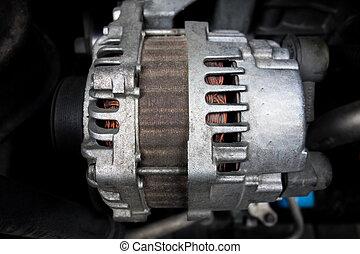 rozrusznik, motor