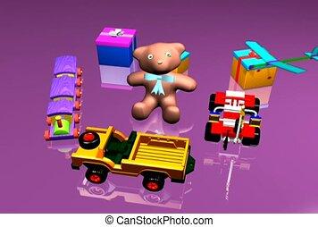 rozrywka, dzieci, zabawki