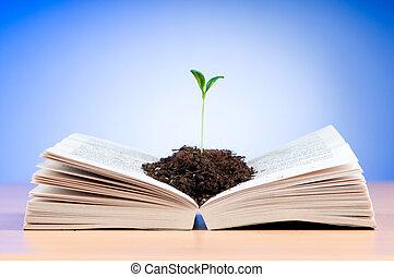 rozsady, rozwój, z, książka, w, wiedza, pojęcie