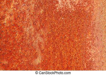 rozsdaszínű fém