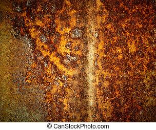 rozsdaszínű fém, struktúra