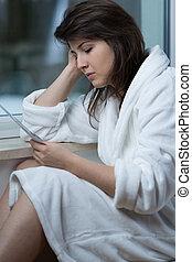 rozvést, po, deprese