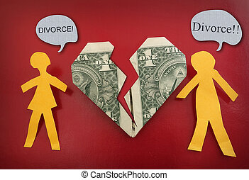 rozwód, para, pojęcie, bojowy
