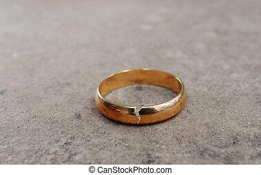 rozwód, ring