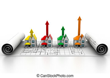 rozwój, dom, sprzedaż