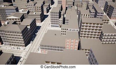 rozwój, miasto, infrastruktura, antena, górny, video,...