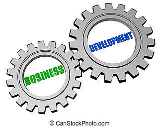 rozwój, srebro, szary, handlowy, mechanizmy