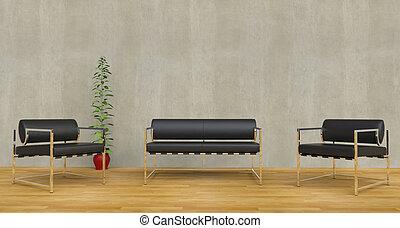 rozwalanie się, krzesła, nowoczesny, czarnoskóry