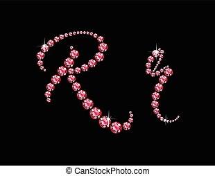 Rr Ruby Script Jeweled Font