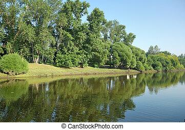 Rriverbank landscape