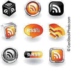 rss, ícones