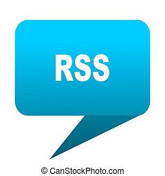 rss blue bubble icon