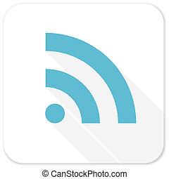 rss blue flat icon