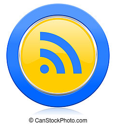 rss blue yellow icon