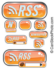 Rss button - The Illustration of a news button