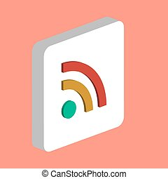 RSS computer symbol for your business project