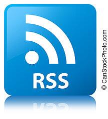 RSS cyan blue square button