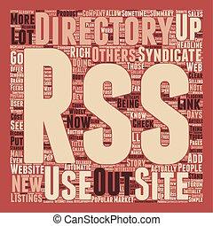 RSS Directories text background wordcloud concept