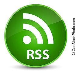 RSS elegant green round button