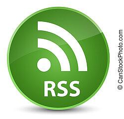 RSS elegant soft green round button