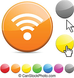 Rss glossy button.