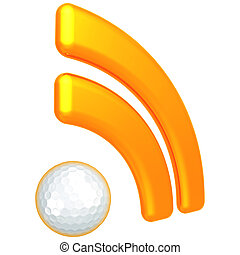 RSS Golfing Feed - 3D Concept And Presentation Figure