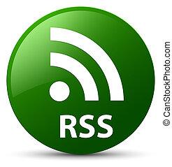 RSS green round button