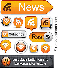 Rss high-detailed modern buttons.