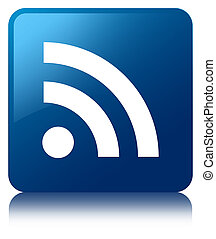 RSS icon blue square button
