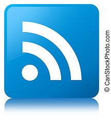 RSS icon cyan blue square button