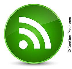 RSS icon elegant green round button