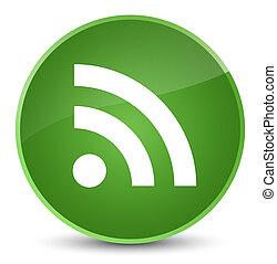 RSS icon elegant soft green round button