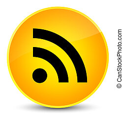 RSS icon elegant yellow round button