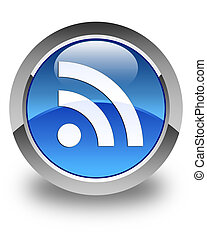 RSS icon glossy blue round button