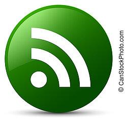 RSS icon green round button