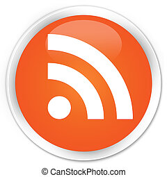 RSS icon orange button