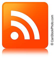 RSS icon orange square button