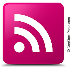 RSS icon pink square button
