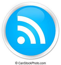 RSS icon premium cyan blue round button