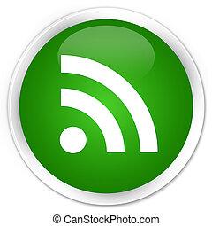 RSS icon premium green round button
