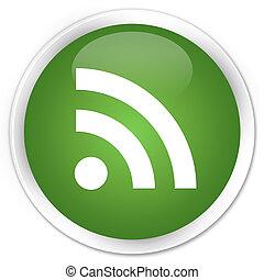 RSS icon premium soft green round button