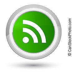 RSS icon prime green round button