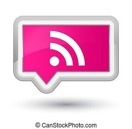 RSS icon prime pink banner button