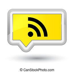 RSS icon prime yellow banner button