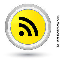 RSS icon prime yellow round button