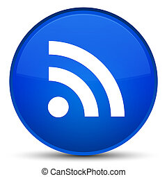 RSS icon special blue round button